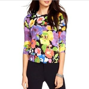 NEW Lauren Ralph Lauren Multi Floral-Print Sweater